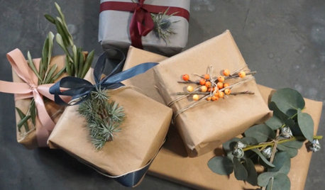 Wow! Dekorer julens flotteste pakker med afskårne grene og kviste