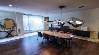 Casa D | Decoración de cortinas con tejidos técnicos