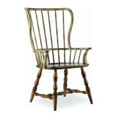 Hooker Furniture Sanctuary Drift and Dune Spindle Chairs, Set of 2, Arm