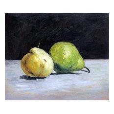 Deux Poires, Unframed loose canvas