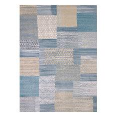 """Modern Textures Applique Blue Area Rug, 7'10""""x10'6"""" Rectangle"""