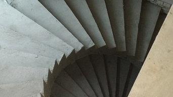 полувинтовые лестницы в эркере