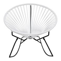 Innit Designs Innit Rocker Chair, Black Base, White