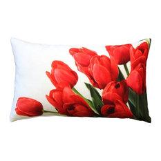 Pillow Decor - Spring Tulips Throw Pillow 12x20
