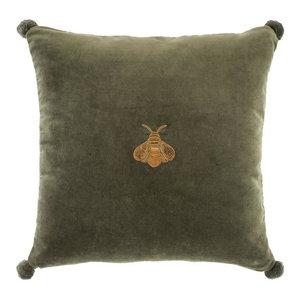 Green Bee Velvet Pillow | Eichholtz Lacombe, green, 23
