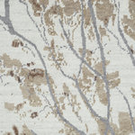 Company C - Almond Blossom Rug, 1x1 - Ethereally elegant, flowering branches of delicate almond blossoms are exquisitely rendered on this opulent hand-knotted original. The soft focus of the design is enhanced by a creamy background with subtle striations of smoky gray. Fine wool yarns in a high knot count give this rug a super-dense pile with a tight softness and a sumptuously smooth surface. Almond Blossom's rich appearance and luxurious hand will enhance any living space. 100% wool.