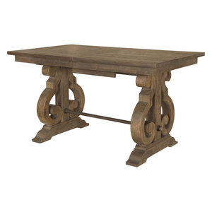 Magnussen Willoughby Rectangular Counter Table in Weathered Barley