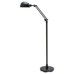 Tensor Lennon 54 5 Quot Articulated Antique Brass And Black Metal Floor Lamp Contemporary Floor
