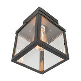 Modern Square Outdoor Ceiling Lamp 1 Black - Rotterdam