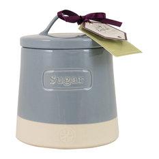 English Tableware Co. Artisan Sugar Canister, Blue
