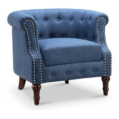 Argenziano Chesterfield Chair, Blue