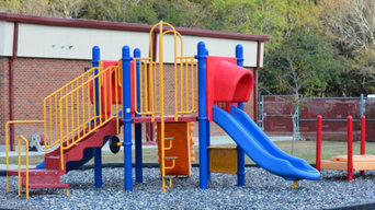 Ascension Parish School District Playground Rubber Mulch Install