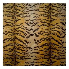 "Tigre Fabric, Ivory, Gold & Black, 48""x36"""