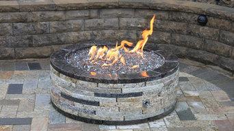 """35"""" round fire pit"""