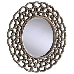 Circular Chain Mirror, 102x102 cm