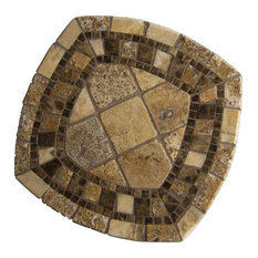 Imperial Mosaic Stone Square Bistro Table, 24""