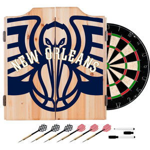 Premier League Manchester City Dart Cabinet Includes Darts And Board Modern Darts And Dartboards By Trademark Global Houzz