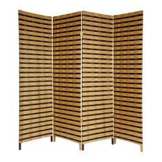 2-Tone Natural Cross Woven Fiber Room Divider
