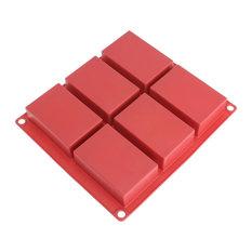 Freshware 6-Cavity Silicone Rectangle Bar Mold