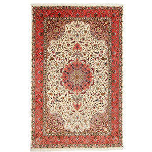Tabriz 50Raj Rug, Persian Carpet Hand-Knotted, 311x200 cm