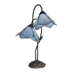 Poelking 2-Light Blue Lily Table Lamp