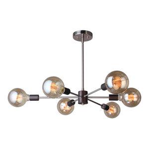 Woodbridge Lighting Ethan 6-Light Pendant/Semi-Flush Convertible