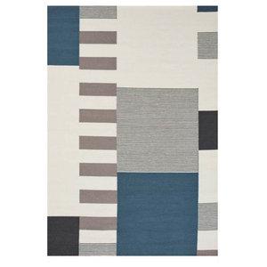 Linie Graphic Rug, Blue, 140x200 cm