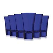 Cobalt Blue Colored Evase Cordial Glasses, 2 oz. Set of 6