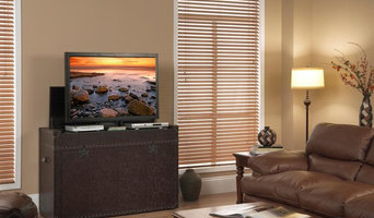 """Ellis Trunk Aged Cigar Leather TV Lift Cabinet For Flat Screen TV's Up To 46"""""""