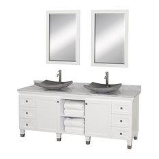 72 in. Eco-Friendly Bathroom Vanity in White Finish