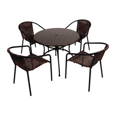 Fleuretta Outdoor Table With San Remo Chairs, 5-Piece Set