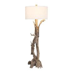 Hounslow Heath 1-Light Floor Lamp, Natural Teak Root