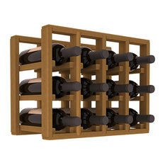 Wine Racks America 12-Bottle Counter Top/Pantry Wine Rack, Redwood, Oak Stain