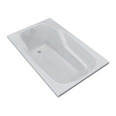 Troy 42 x 72 Rectangular Soaker Drop-In Bathtub - Tub with Reversible Drain