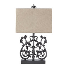 Ashley Furniture Capper Metal Table Lamp in Antique Silver