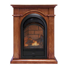 Duluth Forge Dual Fuel Ventless Fireplace With Mantel 15k BTU T-Stat