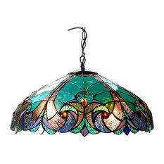 Chloe Lighting Liaison Tiffany-Style 2 Light Victorian Ceiling Pendent