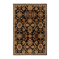 "Traditional Black Rug, 2'3""x14'"