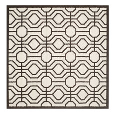 Amherst AMT416 Area Rug, White/Ivory, 7'x7' Square