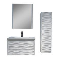 "Paris Vanity Set With Side Cabinet, 30"""