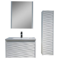 Paris Vanity Set With Side Cabinet, 30""
