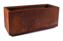 Metallic Series Corten Steel Long Box Planter, Small