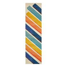"Contemporary Estelle 2'7""x10' Runner Color Block Area Rug"