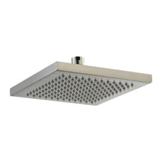 Super Rain Square Showerhead, Brushed Nickel, 8""