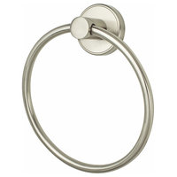 Effortless Elegance Towel Ring, Brushed Nickel