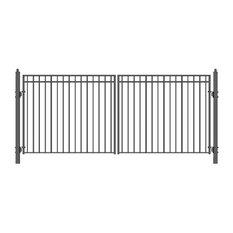 Aleko Dual Driveway Gates Iron Gates Steel Gate Madrid New Style 16'