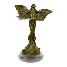 Bronze Sculpture Art Nouveau Butterfly Angel Art Statue