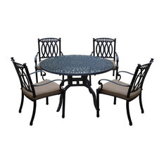 5-Pc Outdoor Dining Set in Antique Black
