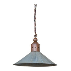 Park Hill Collection Vintage Metal Two Toned Warehouse Lamp With Ceiling Canopy Flush