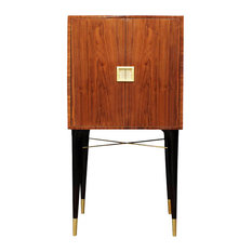 Madison Walnut Cabinet, Gold Leaf